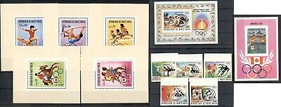Olympic Games 1976 Olympics Montreal MNH perf. set and imperf. set Burkina Faso