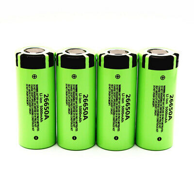 For Panasonic 26650A 5000mAh High Capacity 26650 Li-ion Rechargeable Battery