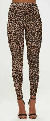 New Womens Leopard Animal Print Ladies Stretch Full Length Leggings Pants 8-16