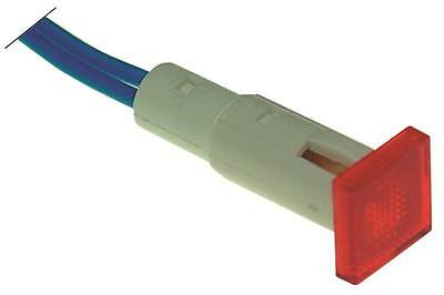 Signal Lamp Red Ø 10mm 230V Cable 220mm