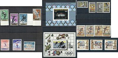 Olympic Games Sports Olympics Imperforated MNH stamps and souv sheets collection