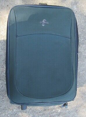 """Atlantic Nylon Carry On Luggage Green 22 x 14 x 9"""" Rolling Suitcase #44230-93F"""