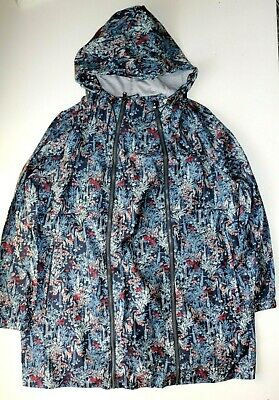 Next Outerwear Pac A Mac Women Maternity Floral Hooded Zip Raincoat Uk16 Eur44