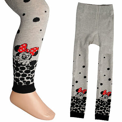 """Knitted Leggings - """" Disney - Minnie Mouse """" - Size 1 to 7 Years - Size 92 - 128"""