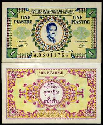 French Indo China 1 Piastres P 104 Unc W/Little Tone