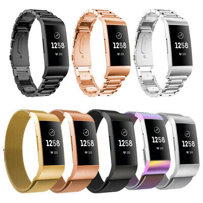 For FitBit Charge 2 3 Sport Watch Metal Strap Stainless Steel Milanese Wristband
