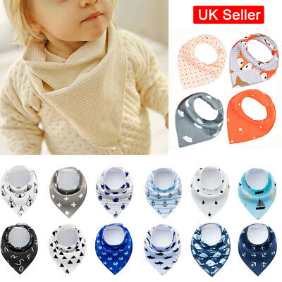 Baby Bandana Dribble Feeding Triangle Bibs Multi Pack Girls Boys Cotton Bandana