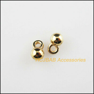 100pc Gold Plated Brass Mini Rhinestone Charms Faceted Dangle Pendants 5.5x3.5mm