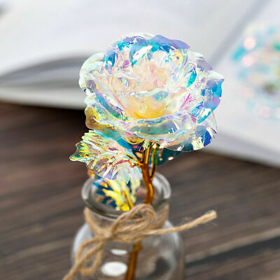 24K Gold Foil Rose Flower Luminous LED Galaxy Mother's Day Valentine's Day Gift