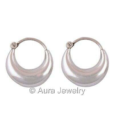 Irish Jewelry 925 Solid Sterling Silver Polished Claddagh Hoop Earrings