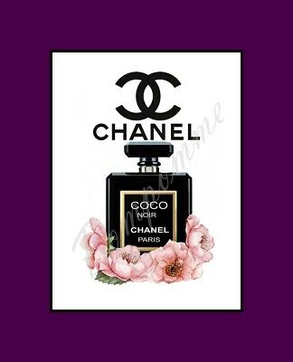 Coco Chanel Perfume Print Wall Art Picture Home Decor Bedroom Bathroom Gift A4