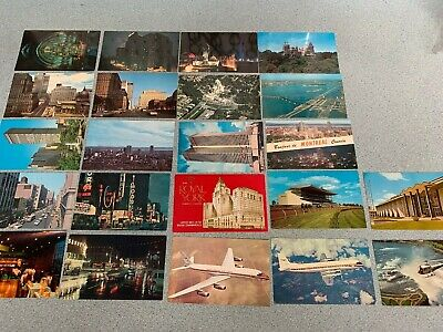 Lot of 22 Vintage Postcards 1967 Montreal World Fair Woodbine Toronto Canada Air