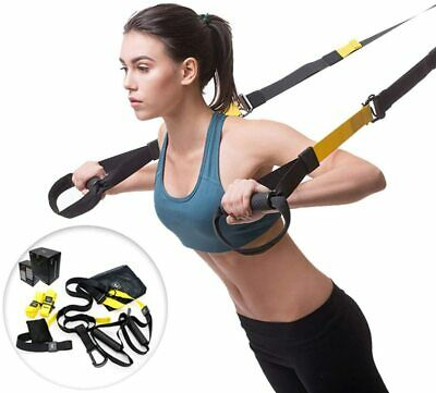 Suspension Straps Trainer For Pro Strength Exercise Training Home Gym Workout