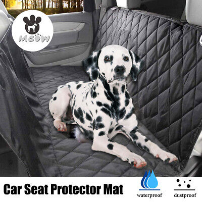 Waterproof Dog Car Seat Cover For Car Pet Back Rear Bench Hammock Travel R5I7