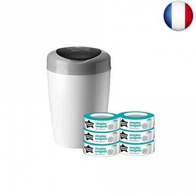 Sangenic Simplee Poubelle à Couches + 6 Recharges