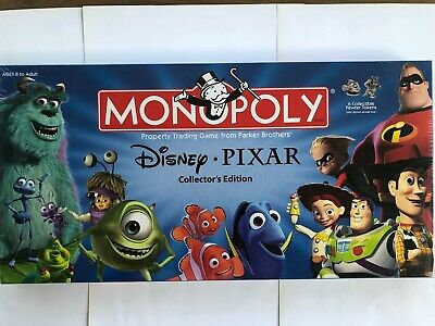 Disney Pixar Monopoly Collectors Edition, Sealed, New in Box