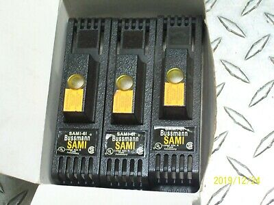 *Lot Of 3* Bussmann Sami-6I Indicating Fuse Covers 600V