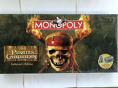 Disney Pirates Of The Caribbean Monopoly Collectors Edition, Sealed, New in Box