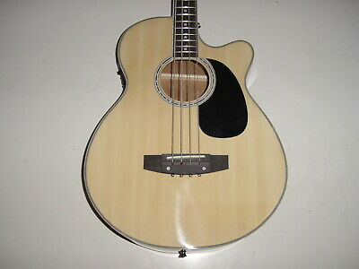 NEW Full Size Natural Electric Acoustic Bass Guitar with 4 band  EQ