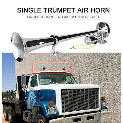 150DB Single Trumpet Car Truck Train Van Air Horn Compressor Super Loud 12V/24V