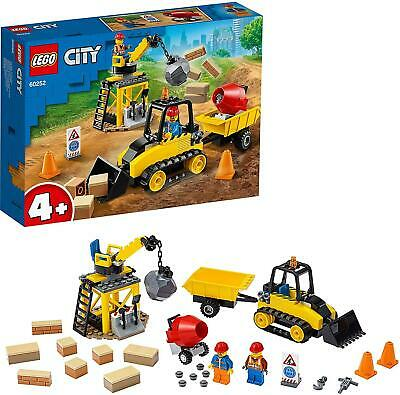 Lego 60252 City Great Vehicles Construction Bulldozer Digger Toy with Crane 4+