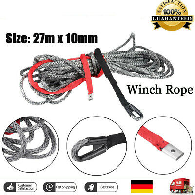 27M Kunststoffseil Seilwinde Synthetisches Windenseil Nylonmaterial Cable Rope A