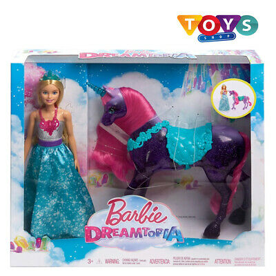 New Barbie Dreamtopia Princess Doll and  Unicorn With Saddle *Free Delivery* Uk