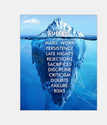 What Is Success Painting 1 Piece canvas print Iceberg Poster Wall Art Home Decor