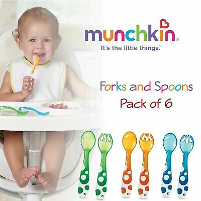 Munchkin Multi fourchettes /& cuillères ¦ toddler/'s//Kid/'s Auto Alimentation couverts ¦ BPA Free ¦ 12m+