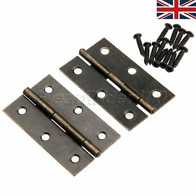60x38mm Bronze Door Cabinet Drawer Cupboard Chest Case Box Butt Hinge UK Stock