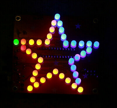 Five-Pointed Star LED Music Flashing Light DIY Kit Soldering Skill Training Kits