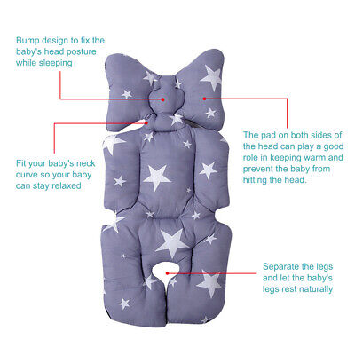 Baby Car Seat Stroller Liner Cushion Mat Pushchair Cotton Warm Soft Pad Cover