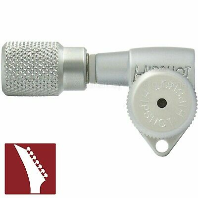 TREBLE NEW Hipshot 6 inline Open-Gear Grip-Locking STAGGERED Knurled GOLD