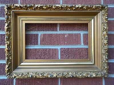 Antique Victorian HUDSON RIVER Fancy Compo Gesso GOLD Wood Frame 7 x 12 in.fit
