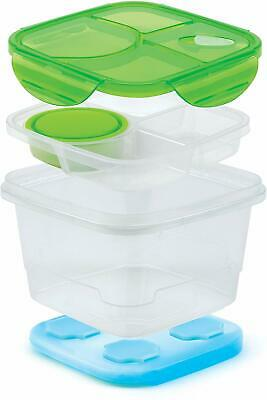 Good Cook 10223 Square Meals Salad More Set with Ice Pack - Multicolored