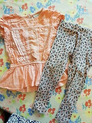 ❤ Gorgeous Next Outfit Set Age 2-3 Years Animal Print Leggings & Top ❤