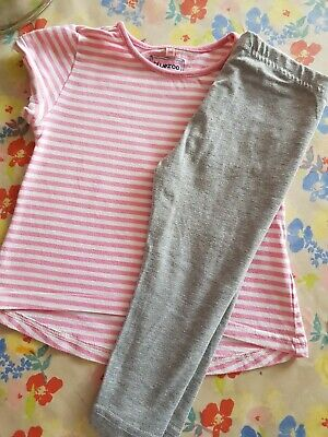 ❤ Girls Age 2-3 Outfit Set Blue Zoo Top & Leggings ❤