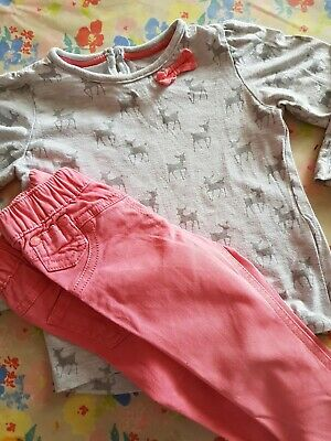 ❤ Girls Next Top & Jeans Outfit Set Age 1-2 Years 12/18 & 18/24 ❤