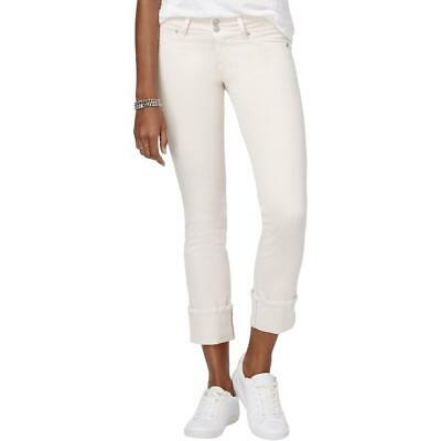 Hudson Womens Ginny Pink Cuffed Cropped Straight Leg Ankle Jeans 25 BHFO 2011