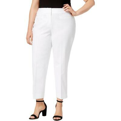 Nine West Womens White Office Professional Straight Leg Pants Plus 24W BHFO 6735