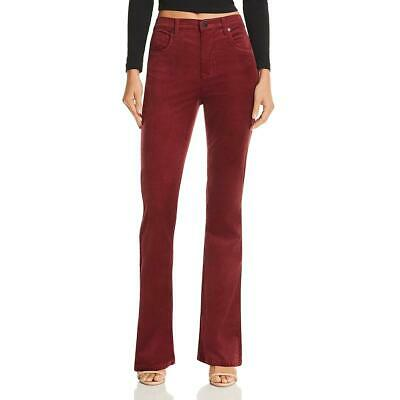 Blank NYC Womens Red High-Rise Flare Jeans Corduroy Pants 25 BHFO 0375