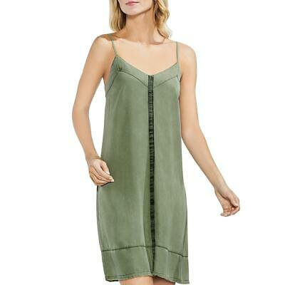 Vince Camuto Womens Green Twill Above Knee Daytime Tank Dress L BHFO 5600