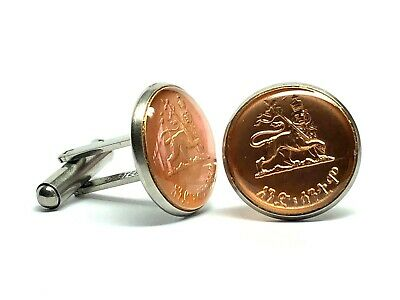 Gift Box Luxembourg Crowned Lion Unique Vintage Silver Tone Coin Cufflinks