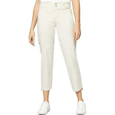 Sanctuary Womens Beige Cropped Mid-Rise Cargo Pants Trousers 28 BHFO 3408