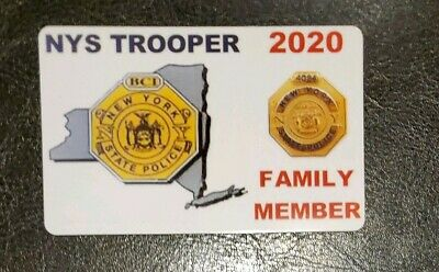 (5) 2020 Nys Trooper Family Member Card Self Made Not A Pba, Cea, Dea, Lba