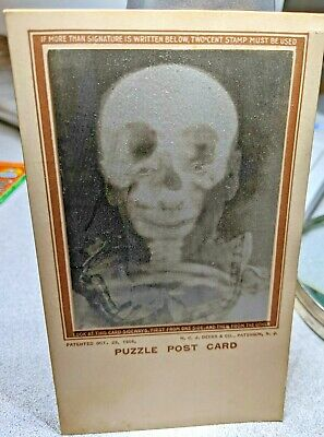 Lenticular 1906 Clown and skull postcard Deeks & Co.