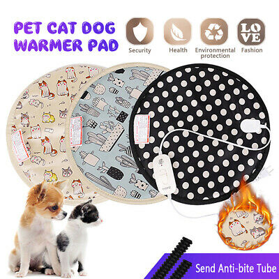 Pet Dog Cat Electric Heating Pad 20W Heater Winter Warmer Mat Bed Portable