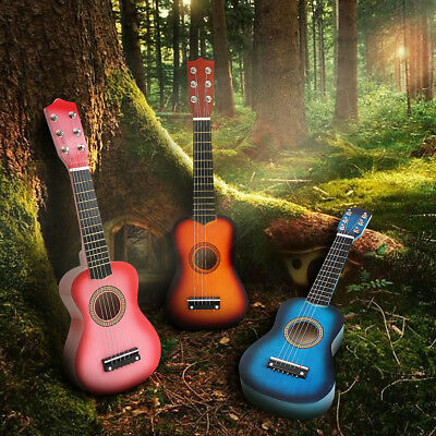 21'' Kids Acoustic Guitar 6 String Practice Music Instruments New Year's Gift AU