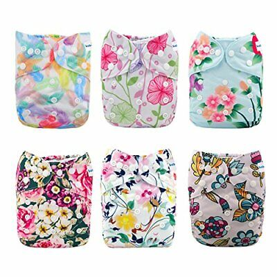 Babygoal Baby Cloth Diapers for Girls, One Size Reusable One Size Girl Color 27