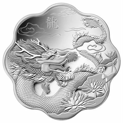 Year of the Dragon - 2012 Canada $15 Fine Silver Lunar Lotus
